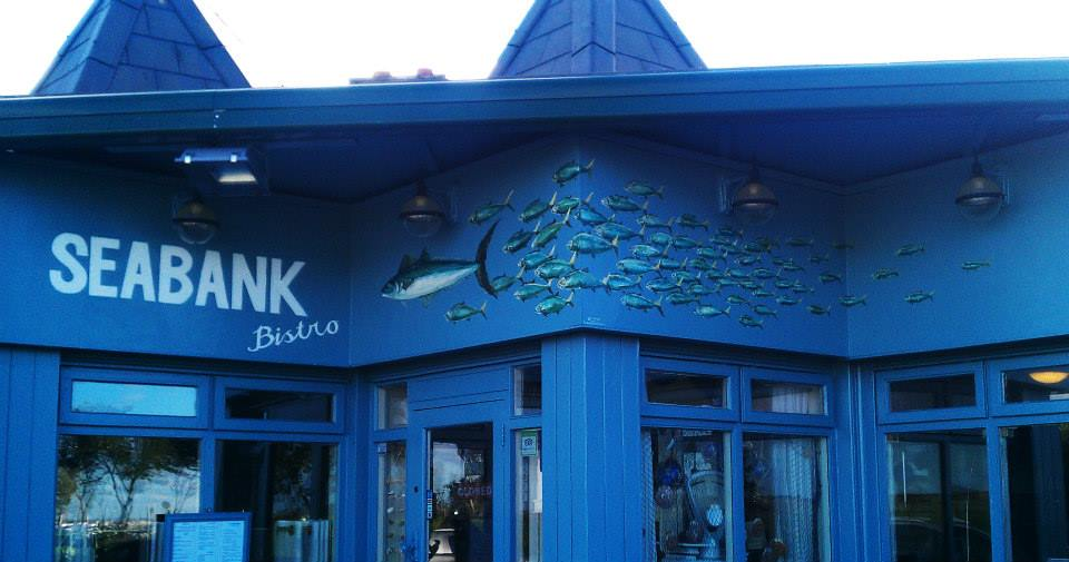 Seabank Sign and mural – Seabank Bistro © Brian Walsh