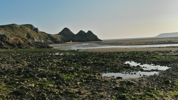 Three cliffs bays, Gower, Pays de Galles © Escapades Celtiques