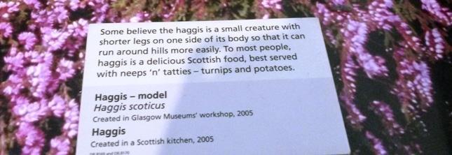 haggis au kelvin grove museum etiquette