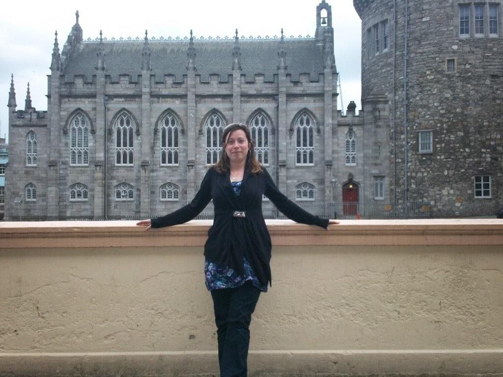 Devant le château de Dublin