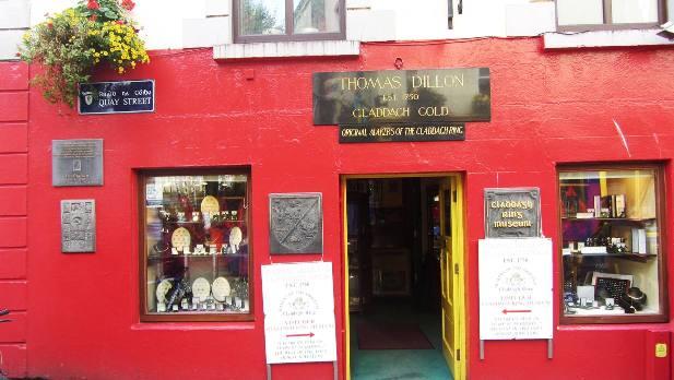 boutique-musée de la bague de Claddagh, Galway, © Escapades Celtiques