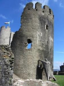 Château de Caerphilly,  Angleterre ou Pays de Galles