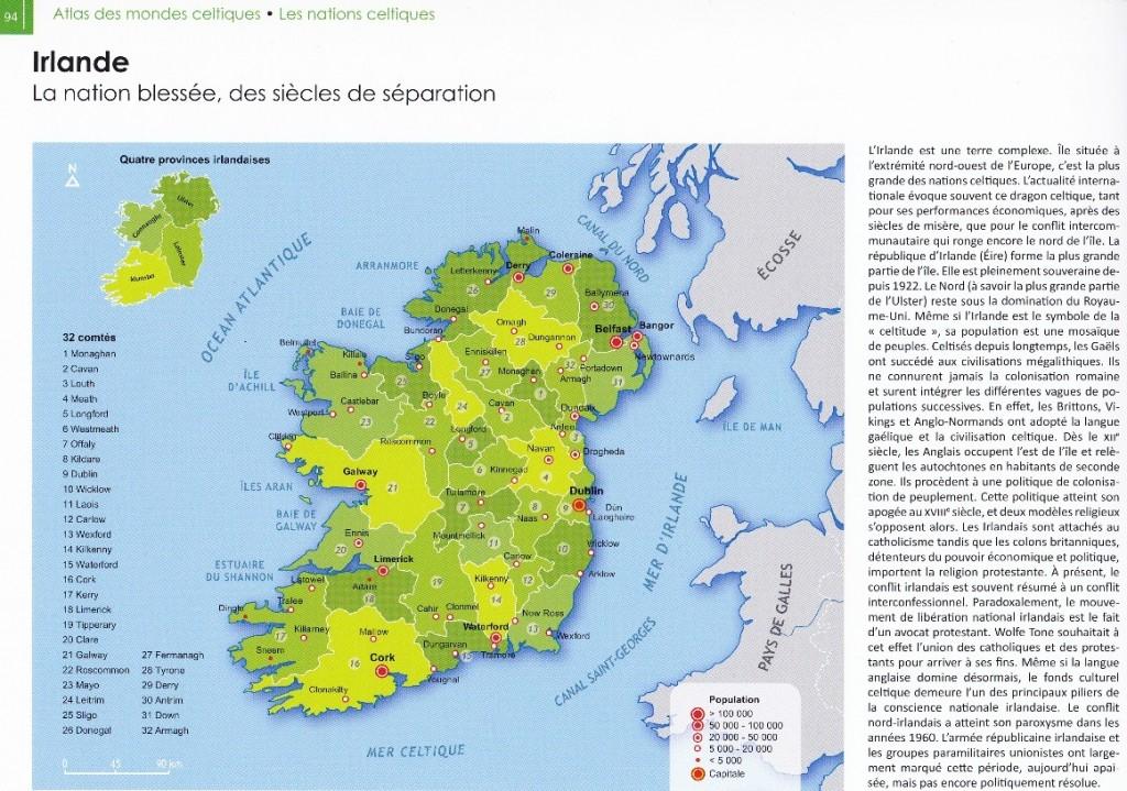 ATlas des mondes celtiques, Irlande 1